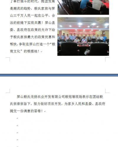 中华殷商大西南产业投资简报